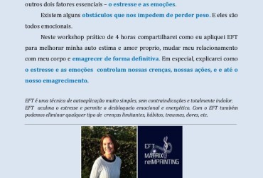 Workshop EFT – Autoestima e Emagrecimento